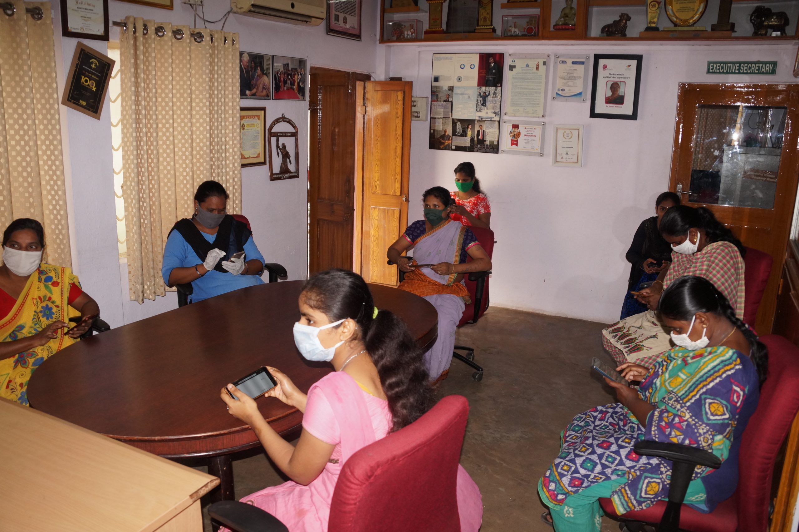 Pregnancy and COVID-19 training. Training of ASHA and Anganwadi frontline workers.